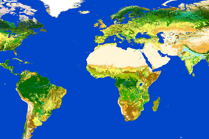 Climate Change – Land Surface Reflectances for Land Cover and Land Cover Change