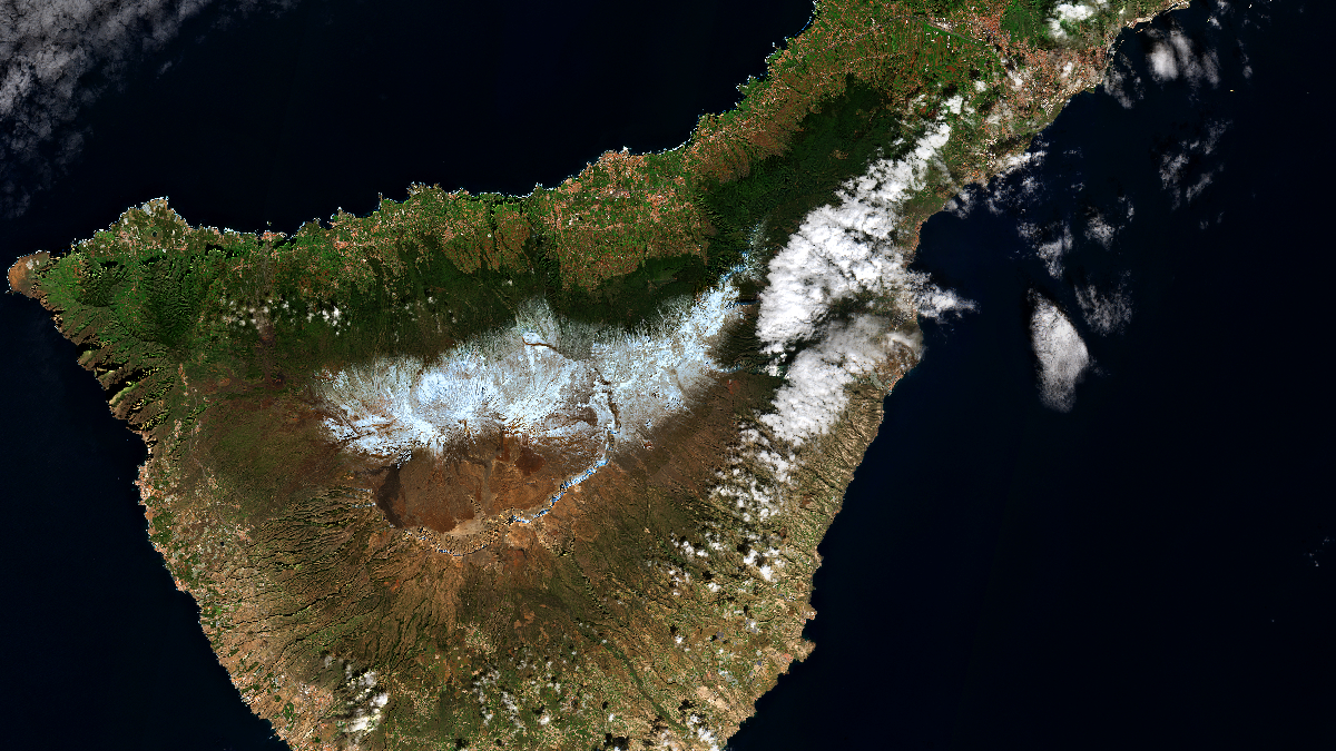 Snow on the Canary Islands