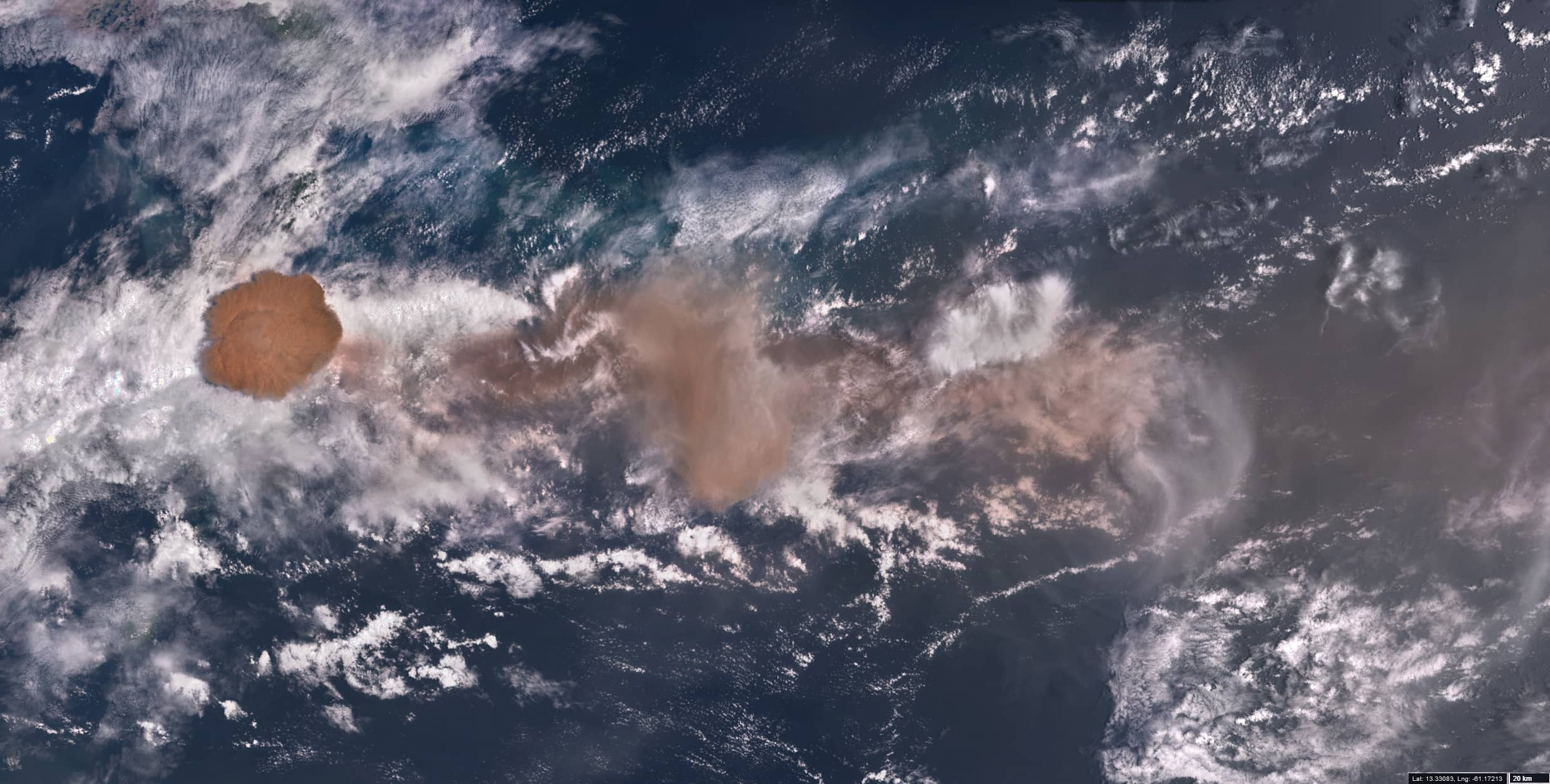 La Soufrière eruption